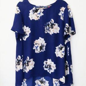 Vince Camuto Blue Floral Blouse